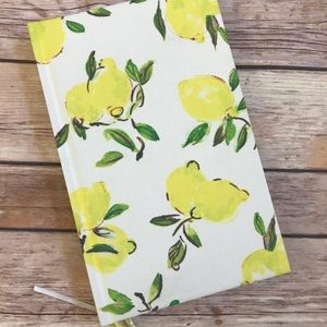Kate Spade Word to the Wise Journal Lemon Print